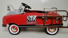 Fire Truck Pedal Car 1940s Ford Fire Engine Rare Vintage Midget Metal Model