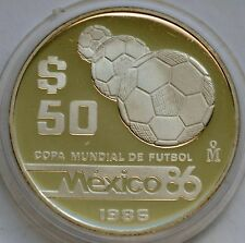 50 Pesos, 1986, FIFA World Cup 1986 in Mexico, Silver coin