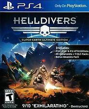HELLDIVERS SUPER EARTH ULTIMATE EDITION PS4 SHOOTER NEW VIDEO GAME