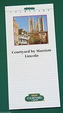 The Courtyard By Marriott, Lincoln. 1980s/90s Hotel Promotional Leaflet.