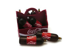 8 Coca Cola Liter Bottles and Tray Dollhouse Miniatures Food Supply Deco