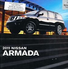 2011 Nissan Armada Dealer Stamped 22-page Original Sales Brochure Catalog