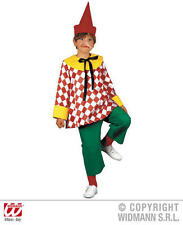 Childrens fantoccio Boy Costume Costume PINOCCHIO Clown Vestito 128Cm
