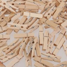 BF2 20 Mini Natural Wooden BAMBO Clothes pin Clips Paper Craft Scrapbooking