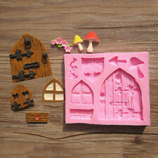 Home Cake Mold Mould Silicone 3D Fairy House Door Decorating Supplies