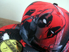 MARVEL x NEW ERA Deadpool All-Over 59FIFTY Red Fitted Cap 7 1/2  wolverine x-men