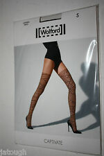 Wolford ~ CAPTIVATE ~ tights BNWT Small UK 10/12 black on black