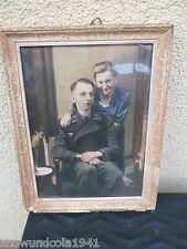 Hochzeitsbild Panzersoldat Nachcoloriert in Farbe Portrait  selten