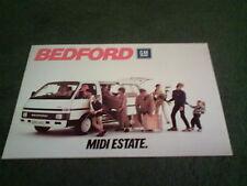 Enero 1986 Bedford Midi-Reino Unido Folleto 8pg Estate-B2205-Opel Midi