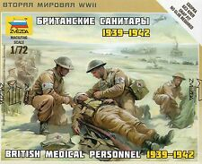 Zvezda 1/72 figures british medical personnel 1939 - 1942 Z6228