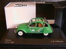 CITROEN 2CV6 2CV 6 1987 SAUSSS ENTE WHITEBOX WB020 1/43 CHARLESTON GREEN GRUN