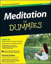 Meditation For Dummies, with Audio CD, Bodian, Stephan, Acceptable Book