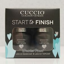 CUCCIO COLOUR VENEER START To FINISH (Base+Top Coat) UV Gel Match Makers Kit Set