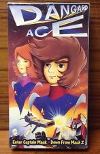 """Dangard Ace - """"Enter Captain Mask""""/""""Down From Mach 2"""" VHS, 1992"""