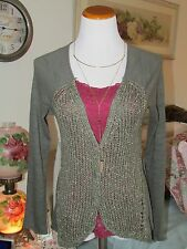Anthropologie Meadow Rue Olive Green Cardigan Pristine Condition Size M