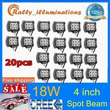 "NEW 20X18W Spot Light Bar 4"" 4inch LED Work ATV Off-Roads Fog Driving Cree UTV"