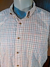 L.L. Bean~ S/S  Wrinkle Resistant Checked Sports Shirt~XL