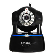 1080P 2.0MP WiFi IP Camera Wireless Pan/Tilt Audio Black with iPhone Android App