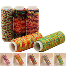 Home DIY Rainbow Color Spools Hand Quilting Embroidery Sewing All Purpose Thread