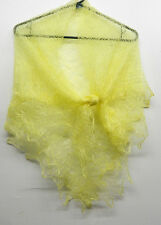 00RUSSIAN ORENBURG LACE KNITTED SHAWL SCARF (PASHMINA) LIGHT YELLOW
