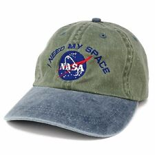 NASA I NEED MY SPACE CAP OLIVE GREEN Unwashed Style FAST FREE SHIPPING