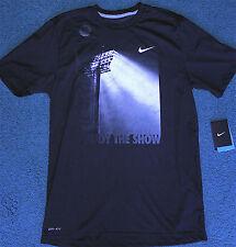 NWT Mens Nike M Dri-Fit Black/White ENJOY THE SHOW Football Stadium Shirt Medium