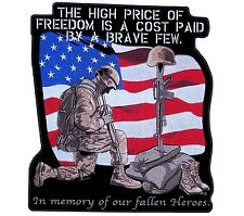 Large High Price Of Freedom Patriotic Flag Embroidered Biker Patch FREE SHIP