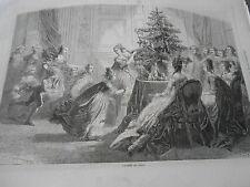 Gravure 1862 L'Arbre de Noel