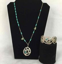 SILPADA Garden Party Necklace & Cuff Bracelet Set Turquoise .925 Sterling Silver