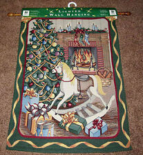 Fireside Christmas Lighted Tapestry Wall Hanging