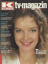 Kurier TV Magazin 1985: Dietlinde Turban, Hans P. Heinzl, Deborah Shelton Dallas