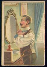 Chromo Guérin Boutron Transparents à la lumière 71 cravate miroir moustache