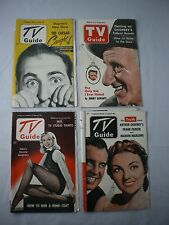 Vintage TV GUIDE 1952-1953 Dagmar, Jimmy Durante, Parker & Marlowe - Lot of 4