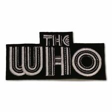 The Who Patch, 1970s Op-Art Logo, Embroidered Iron on Applique, NEW