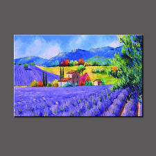Huge Modern Hand-painted Art Oil Painting Wall Decor canvas,Lavender(No Frame)