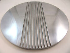 "14"" Center Finned Retro Polished Aluminum Air Cleaner Lid Only Chevy Ford Mopar"