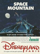 X7379 Space Mountain - Disneyland Paris - Pubblicità 1995 - Vintage advertising