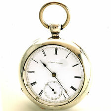 Scarce 4-1/2 Oz. Keywind/Keyset Crescent Street Waltham Pocket Watch with Key