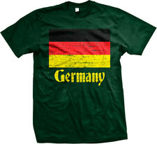 Distressed Germany Country Flag - Deutschland German  Mens T-shirt