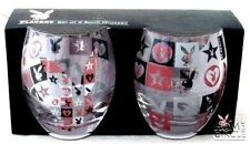 PLAYBOY SET OF 2 SPIRIT GLASSES ALL STAR DESIGN