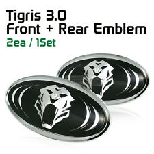 Tigris 3D effect Logo Grille Trunk Emblem Badge 2Pcs For KIA 2011-16 Sportage R
