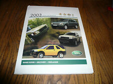 2003 Land Rover Media Information Sales Release Package