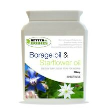 Starflower Oil (Borage Oil) 500mg 50 capsules bottle Better Bodies