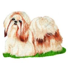 Large Embroidered Zippered Tote - Shih Tzu DTL006