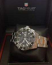 Tag Heuer Aquaracer Chronograph CAJ2110 - 44mm Black Dial - Box & Papers - 2011