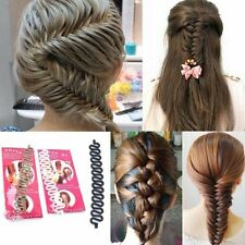 1Pc Black Hair Braiding Tool Roller With Magic hair Twist Styling Bun Maker NEW
