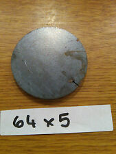64mm x 5mm Round Disc Rectangle Circle Mild Steel Sheet Plate