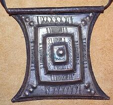 Antique Tuareg Tcherot Amulet Tribal Metal Pendant Collected From Niger, Africa