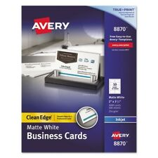 Avery Two Sided Clean Edge Business Cards Inkjet 2 X 3 1 2 Glossy White 200 Pack For Sale Online Ebay