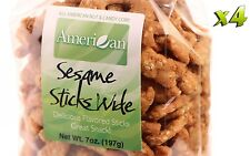 28oz Gourmet Style Bags of Delicious Wide Sesame Sticks [1+ lb.]